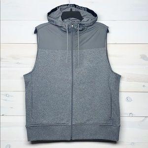 Michael Kors Gray Zipup Hooded Vest